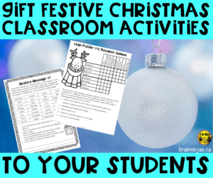 Do you need some Christmas classroom activities to keep your students busy during December that are still valuable learning opportunities? Look no further than this list of easy to implement (and barely prep) ideas.  These Christmas activities are perfect for your upper elementary classroom.