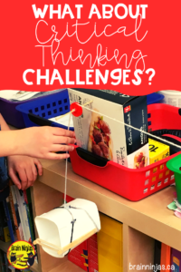 Teach your students to use critical thinking to solve problems by posing challenges that can help them develop a growth mindset.