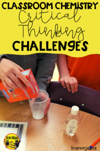Challenge your students to show you what they have learned about your chemistry lessons with these open-ended problem solving challenges for properties of chemical and physical reactions that you can do safely in your classroom as independent tasks or science stations.
