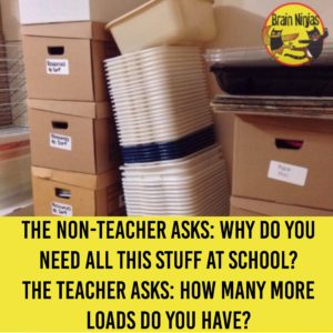 How many boxes of clutter is in your classroom? Check out this list of ways to clear the clutter from your classroom.