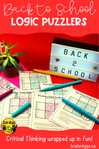 Do you like logic puzzles? Get your students hooked on the first day with some back to school puzzles you can use on the first day of school! #backtoschool #back2school