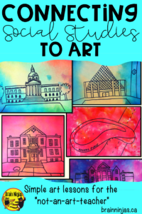 Use art to connect students to their social studies lessons. Find out some of the ways you can integrate art and social studies with these great tips and get a free lesson to try! #artlessons #socialstudieslessons