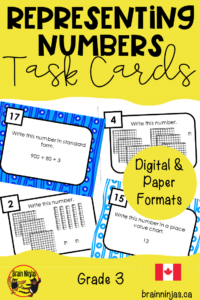 Look at ways different numbers are represented with this set of task cards.