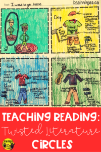 Twist up your traditional Literature Circles with this fun take that will get your students excited to write about their reading! #teachingreading #literaturecircles