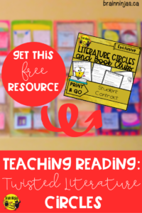 Twist up your traditional Literature Circles with this fun take that will get your students excited to write about their reading! Get this free contract to use with your students as part of our unlimited access to our Resource Library. #teachingreading #literaturecircles