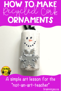 Upcycle your wine corks into these adorable Christmas ornaments with these simple intructions. And there are lots of suggestions for other Christmas crafts! #christmasactivities #christmascrafts