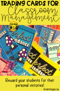 Are you looking for a classroom management system for your upper elementary classroom? Check out these ideas for acknowledging personal victories! #tradingcards #classroommanagement