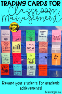 Are you looking for a classroom management system for your upper elementary classroom? Check out these ideas for acknowledging academic achievements! #tradingcards #classroommanagement