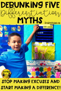 Are you afraid of differentiated instruction because you just don't know where to start or what to do? Let's debunk some common myths and get you on your way! #differentiation #differentiatedinstruction #inclusion