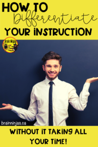 Are you struggling with planning for differentiation instruction in your classroom? Maybe you need to think smarter instead of harder? Check out this practical guide to getting starting with differentiated instruction strategies for your students.