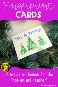 Create adorable cards that use simple materials-paint, paper and fingers. These Christmas cards can be shared with friends and family. #christmascards