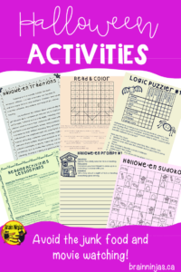 Are you looking for something to do with your students around Halloween that doesn't involve eating junk food and watching movies? Check out these great reading and writing activities that will keep the kids busy and teach them something too! #halloweenactivities