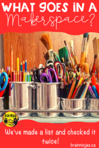 Check out this great list of ideas to fill your makerspace! #makerspace #stem #steam