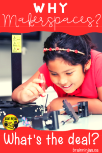Makerspaces give your students the change to be creative, solve problems and learn in new ways. Not sure why you should have a makerspace? Check out this post! #stem #makerspace #steam