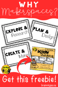 Get this free set of ink-saving posters to use in your #makerspace to inspire your creators! Just sign up to our email list and get unlimited access to our free Resource Library. #makerspace