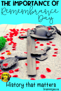 Are you looking for activities to use in your classroom that go beyond making poppies? Check out this list of activities and lessons along with some reasons why it's important to recognize Remembrance Day in your classroom. #remembranceday #lestweforget