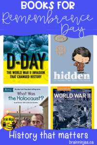 Check out these books you can use to help your students learn about Remembrance Day in Canada. #lestweforget #remembranceday #canadianhistory