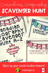 This scavenger hunt focuses on geographical locations, lakes, mountains, parks, cities and so much more from all across Canada. Students are asked to locate information that correlates with a specific letter. For example, if the letter is E, it might say, name a capital city. The answer would be Edmonton. Some of the questions only have a specific answer, but many have several. A suggested answer key is included.