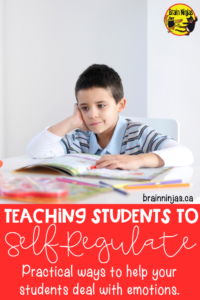 Teach your students to self-regulate and manage their emotions with these activities. Managing feelings is just one part, but there are lessons and activities included in this post! #managingfeelings #emotionalregulation #selfregulation #mentalhealth #SEL