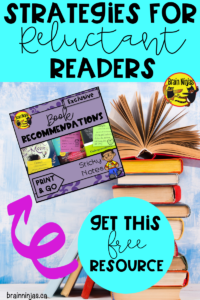 Get these book recommendation cards you can use in your classroom or library. #readingstrategies