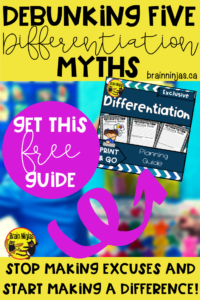 Get this guide to help you streamline your differentiation planning. Just sign up for our email list and get unlimited access to our resource library. #differentiatedinstruction #inclusiveeducation