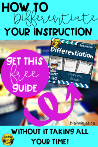 Use this differentiated instruction planning guide to help streamline your planning and reclaim some of your personal time. #differentiatedinstruction #inclusiveeducation