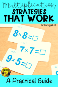Are you struggling with teaching multiplication because students just don't know their times tables? Check out these ways we practice without so much pressure. #multiplicationstrategies