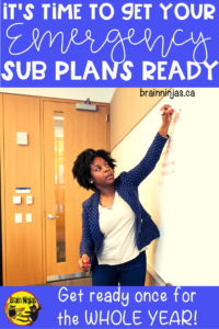 Are you prepared for a substitute teacher in the event you have to leave your classroom unexpectedly? Get these tips and some templates to make your planning simpler, faster and FINISHED! #emergencysubplans #substituteteacher #supplyteacher