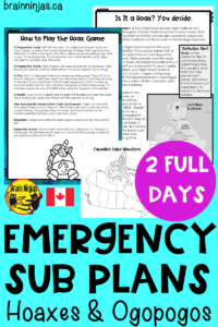 These ready to use emergency sub plans can be set up for you to use all year in the event you need to be away unexpectedly? Check them out and save your time! #emergencysubplans #substituteteacher