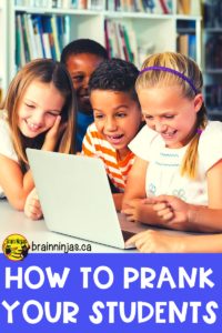 Are you looking for a fun but harmless prank for April Fool's Day? Pranks are great any time of year and they are a great way to bond with your students. Check out these free and easy to use pranks for your classroom. #aprilfoolsdayprank #pranks #aprilsfools