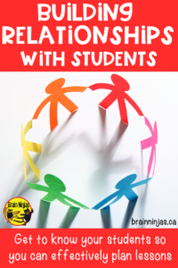 Are you struggling with classroom management? Take the time to build relationships with your students.  Get some easy ideas to get you started.