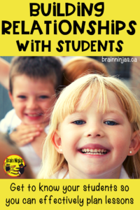 Are you struggling with classroom management? Take the time to build relationships with your students.  Click for some simple practical ideas to use in your classroom.