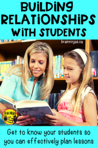 Are you struggling with classroom management? Take the time to build relationships with your students.  Check out easy ideas to quickly build relationships with your students.