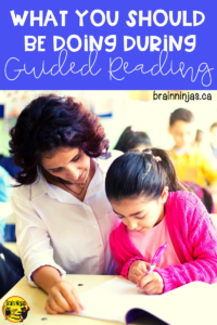 Are you learning to run Guided Reading groups in your classroom? Great! Here's what we do during our Guided Reading Instruction in upper elementary. #teachingreading #guidedreading
