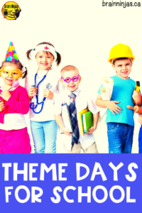 Here is a huge list of spirit or theme days you can use to help plan out fun days at your school. #spiritdays #themedays