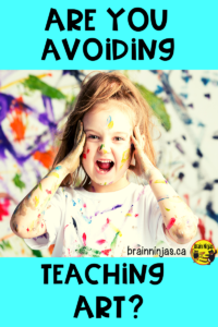 Do you try to avoid teaching art because you can't handle the mess? Check out this list of ways to manage the mess and get some free art lessons in the process. #artlessonsforkids #artlessons