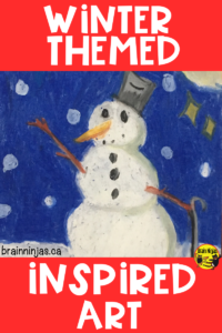 "This set of lessons are designed for the ""not-an-art-teacher"" who needs a few projects to do over the winter months. #artlessons #artlessonsforkids"