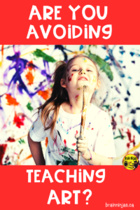 Do you avoid teaching art because you can't handle the mess? Check out this list of ways to manage the mess and get some free art lessons in the process. #artlessonsforkids #artlessons