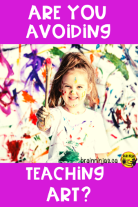 Do you avoid messy art projects because you can't handle the mess? Check out this list of ways to manage the mess and get some free art lessons in the process. #artlessonsforkids #artlessons