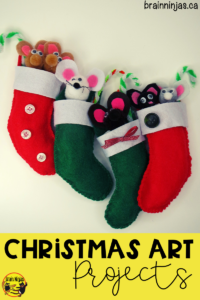 Get this amazing Christmas art project for free on our site. Your students can create these adorable #christmasornaments with the pattern and step by step instructions. Check them out! #artlessons