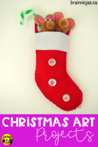 Get this great Christmas art project for free on our site that make a great gift for families. Your students can create these adorable #christmasornaments with the pattern and step by step instructions. Check them out! #artlessons