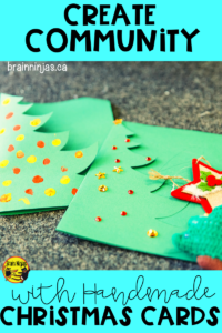 Get your students involved in their community by making and delivering Christmas cards. It's so easy and yet makes such an impact. Find out how. #christmascards #kindness