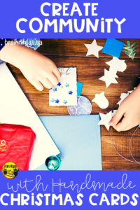 Create a sense of community by making and delivering Christmas cards. It's so simple and yet makes such an impact. Find out how. #christmascards #kindness