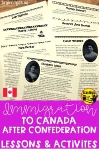 Students get to read and role play about the different people that came to Canada during the Third Wave. This lesson engages students in the past and it is a very relevant lesson in today's world.