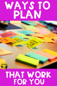 How do you plan lessons? Our list of things to consider might help you get your lesson planning on track. #lessonplanning #planners #planbook