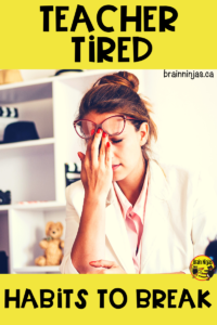 If you're tagging #teachertired all the time it's time for you to start changing some habits. We've got some ideas for your wake up call. #newyear #badhabits