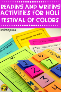If you're looking to do activities for Holi the Festival of Colors, check out these ideas that include books, reading passages and art projects you can do easily and without too much mess in your classroom. They are perfect for the upper elementary classroom and you can even grab a free art lesson too!