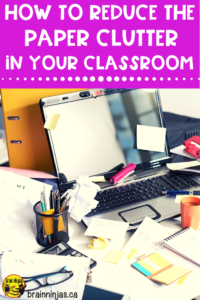 If paper is piling up in your classroom we have some solutions to cut down on the paper clutter with some practical suggestions. These are sure to get your paper pile cut down.