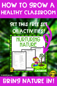 There are lots of studies that support the human connection with nature. How are you connecting your students to nature? This is a list of ideas that can help you grow a healthy classroom by bringing nature in and your students out into the fresh air. Get these simple activities delivered right to you or get them from our free resource library.