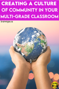How do you teach a split class or combined grades? Start by combining your students into a culture where they get to know each other and create a classroom community that your students will love.